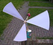 How to make a windmill with paper plates