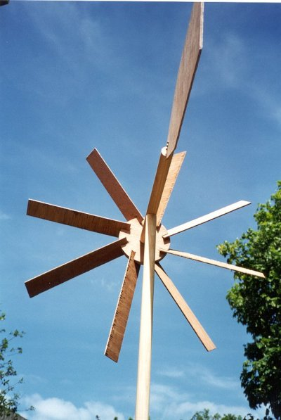 the completed windmill
