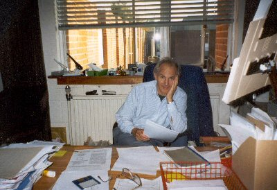 Harry Kroto in his office